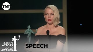Michelle Williams: Award Acceptance Speech | 26th Annual SAG Awards | TNT