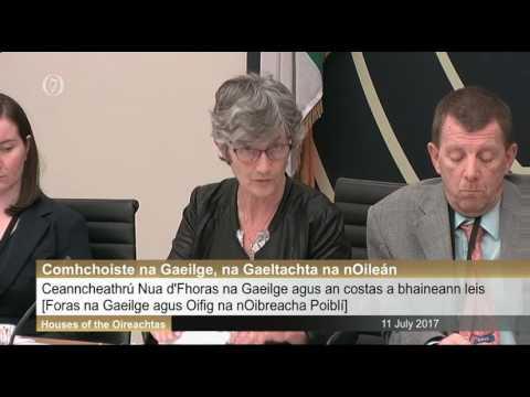Foras na Gaeilge agus an Oifig na nOibreacha Poiblí os comhair an Choiste Gaeilge inné