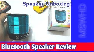 Mini Speaker WS 887 Unboxing And Review - Speaker Unboxing