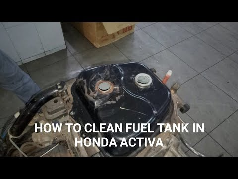 How To Clean Honda Activa Fuel Tank.