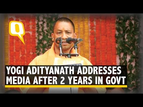 UP CM Yogi Adityanath Addresses the Media After Completing Two Years in Government