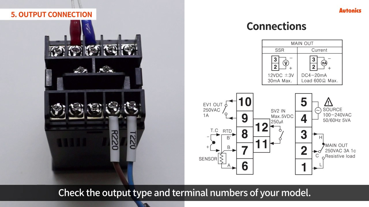Omron Temperature Controller Wiring Diagram 4 Pin Flat Trailer Plug Autonics Tutorial Controllers Tzn Tz Series Youtube