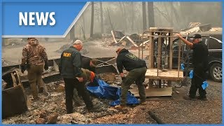 California wildfires: 42 dead, over 200 missing