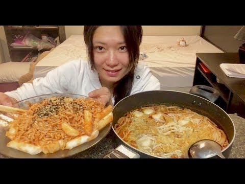 【豪放派吃播】火鸡面&螺蛳粉 [Mukbang Big Bites] Samyang Ramen&Chili Rice Noodle-Mukbang