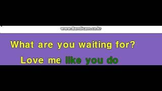 "Ellie Goulding - ""Love Me Like You Do"" (LYRICS) Karaoke instrument"