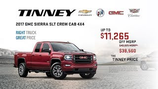GMC Truck Discounts and Rebates on 2017 Sierra | Tinney Automotive Greenville MI