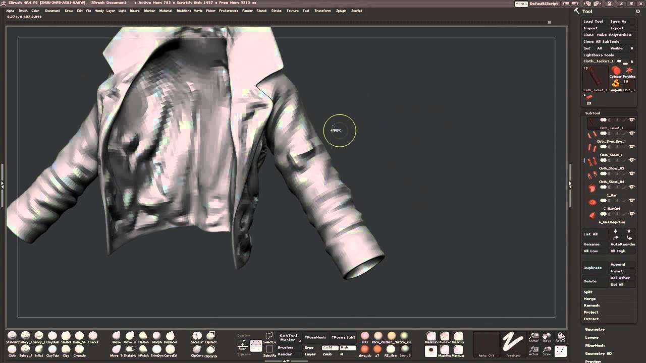 Leather Jacket Sculpting Part 1