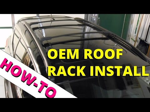 How To Install OEM Ford Escape Roof Rack: HOW TO ESCAPE