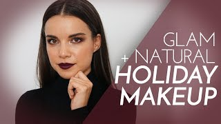 2 Holiday Makeup Looks! Casual + Glam | Ingrid Nilsen