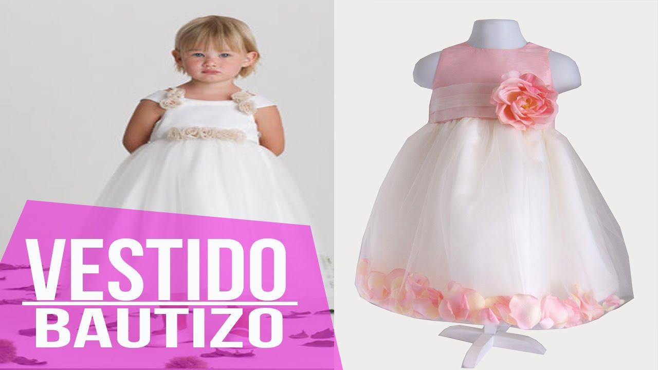 34cc92c121 Vestidos Para Bautizo y Ceremonias - Niña - Moda Diseños - YouTube