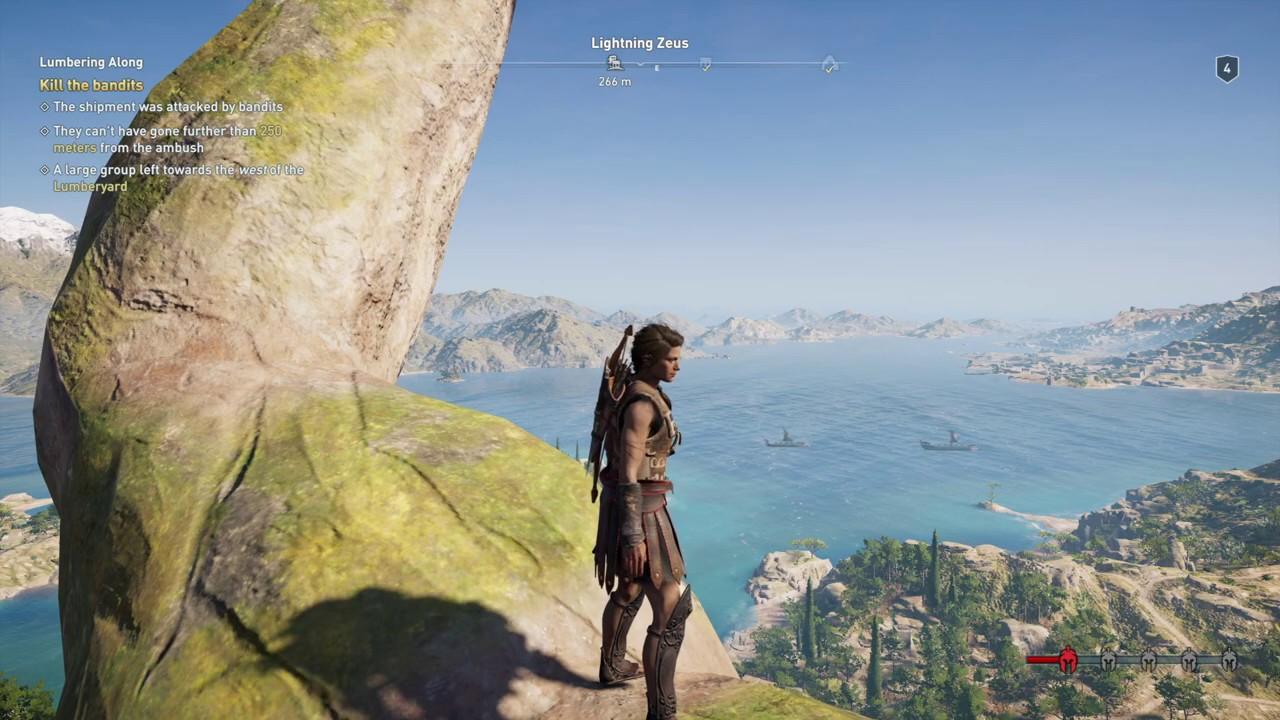 Assassins Creed Odyssey   Climbing Lightning Zeus Statue