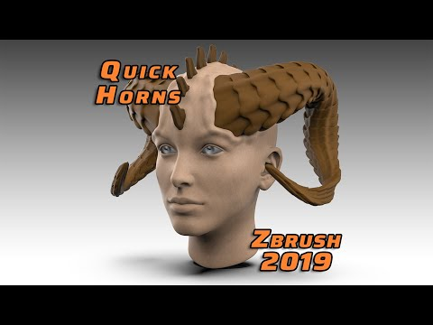 Quick Horns Zbrush 2019