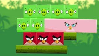 Angry Birds Kick Piggies - STELLA HELP RED BIRD KICK ALL SQUARE PIGGIES LEVELS!
