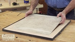 Build A Tiled Table- Part 2 Frame The Tile  |  Woodworkers Guild Of America