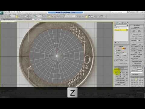 Modeling a euro coin in 3DsMax - Part 1