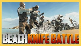 Beach Knife Battle! (Black Ops 2 Xbox One)
