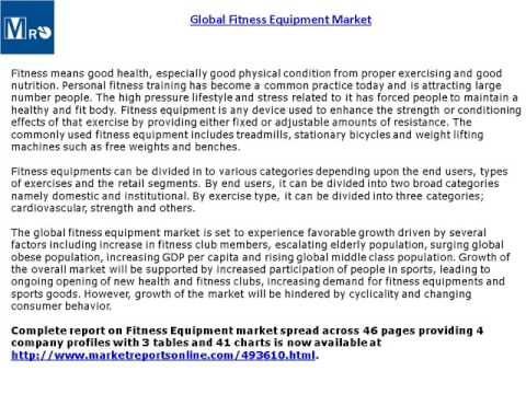 Fitness Equipment Market Global Forecasts Research Report 2020
