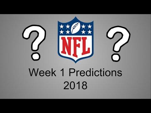 NFL Week 1 Predictions 2018!