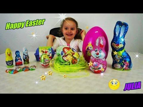 Различные пасхальные сладости сюрпризы Киндеры  Easter big Surprises Kinder Smarties chocolate