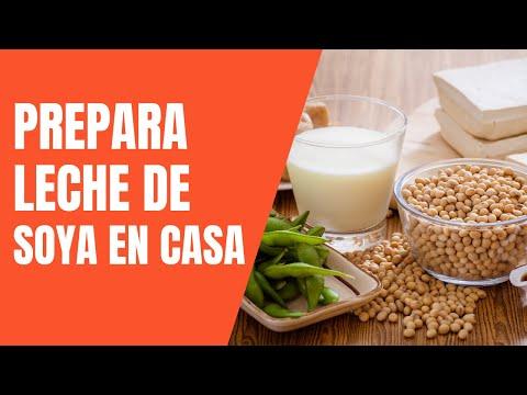 Cómo preparar leche de soya en casa