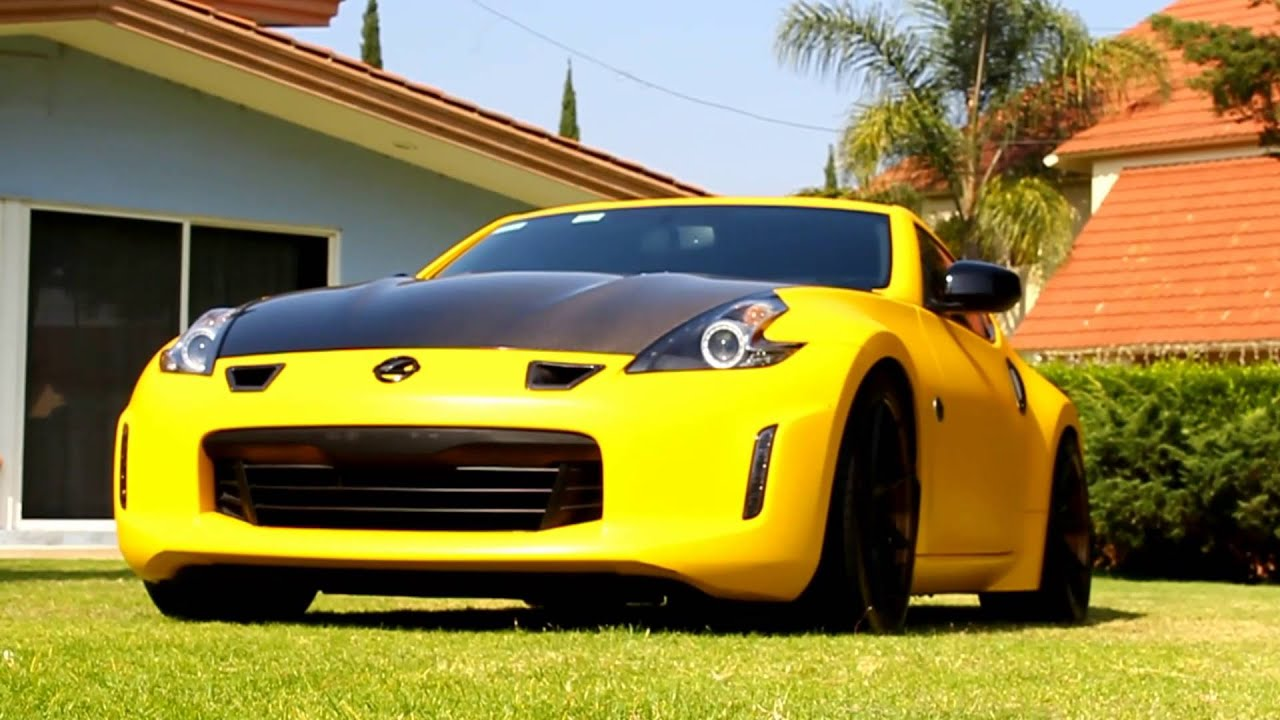 370Z Yellow Wrap - YouTube
