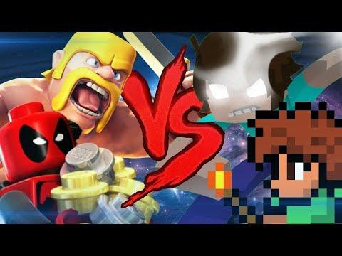 Lego VS. Minecraft VS. Terraria VS. Clash Of Clans | RAP BATTLE (Ft. Micael MRH, HeyRap, DavidBlack)
