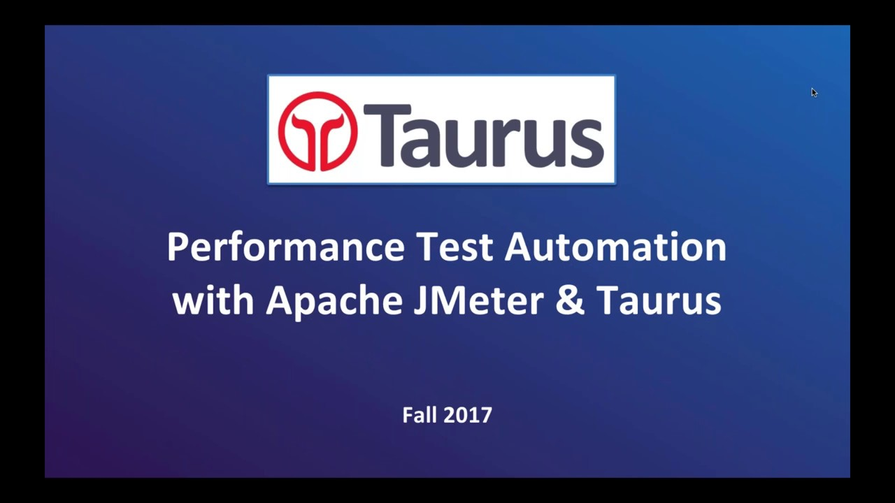 Automating Performance Tests with Taurus