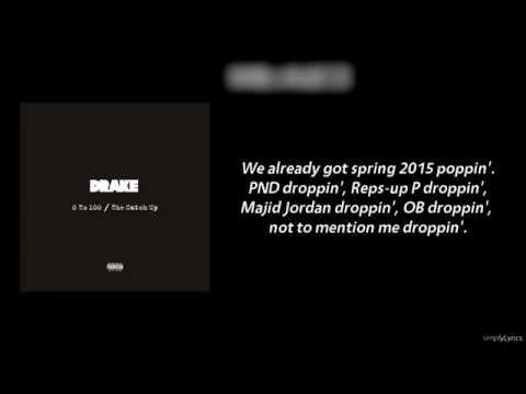 Drake - The Catch Up (Lyrics Video)
