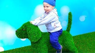 ВЕСЕЛЫЙ ВЛОГ Даня ИСПУГАЛСЯ РОБОТА Парк аттракционов для детей новые приключения для детей kids vlog