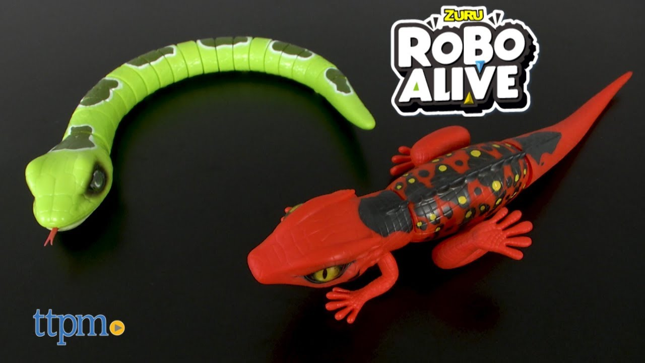 Robo Alive Slithering Snake & Lurking Lizard from Zuru