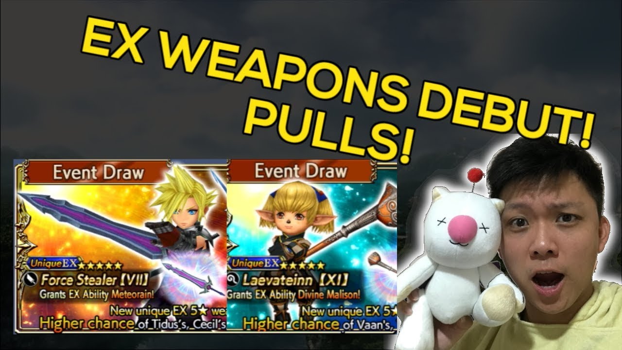 [DFFOO] EX WEAPONS HAS ARRIVED! PULL PULL PULL!   EX Banners + CH 11 Banner    Dissidia Opera Omnia