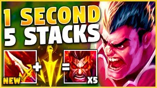 *0.5 SECOND 5 STACKS* I BROKE THE WORLD RECORD (NEW BUILD) - League of Legends