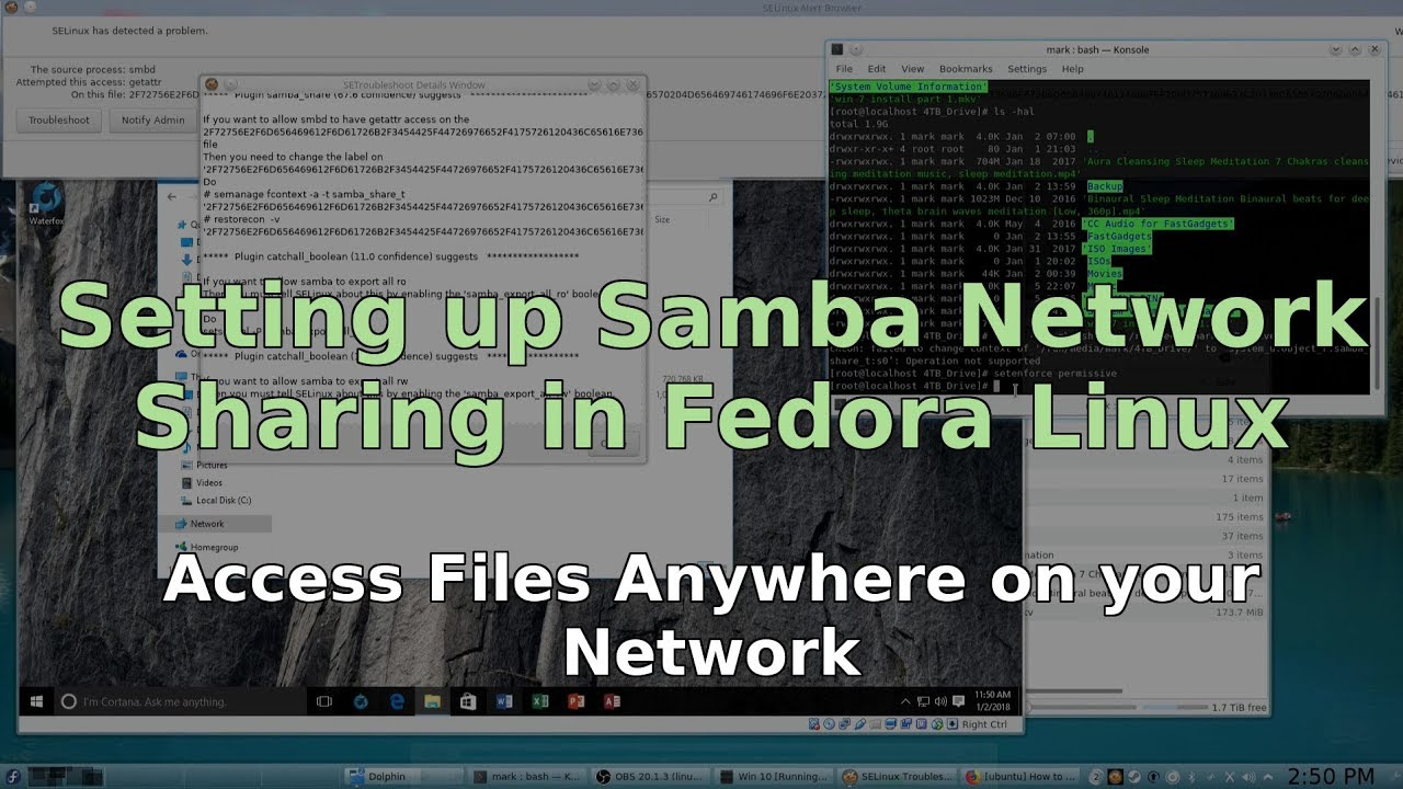 Setting Up Samba Network Sharing in Fedora Linux