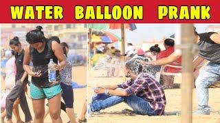 Throwing Water Balloons at People Prank | Prank in India | Puri Sea Beach | Bengali Prank | KKF-2019