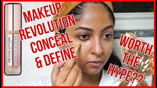 MAKEUP REVOLUTION CONCEAL & DEFINE CONCEALER REVIEW | Worth the Hype? 🤔Stacey Castanha