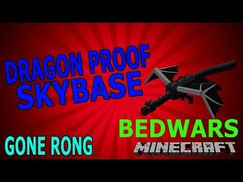 MAKING A DRAGON PROOF SKYBASE IN BEDWARS!!!(gone rong)