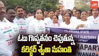Collector Swetha Mahanthi Flag Off 2k Run For Awareness On Right To Vote In Wanaparthy | YOYO TV
