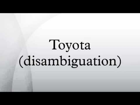 Toyota (disambiguation)