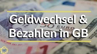 Geldwechsel und Bezahlen in GB. Umgang mit Pfund! Work and Travel England Auslandspraktikum England