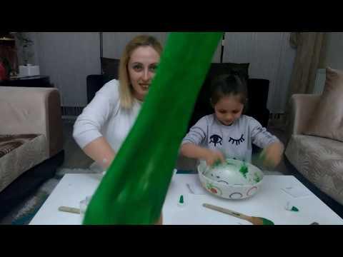 En güzel dev pofuduk slime challange. Funny kıds vıdeo