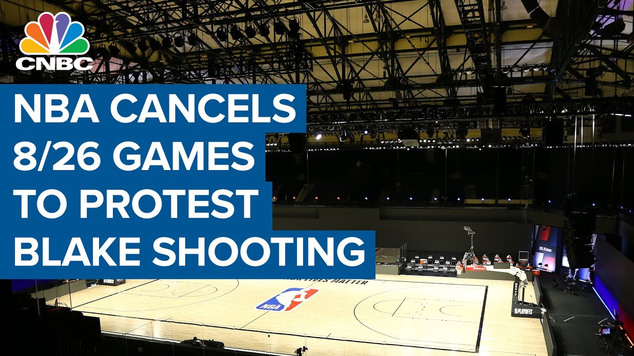NBA cancels all playoff games as players boycott to protest Jacob Blake shooting