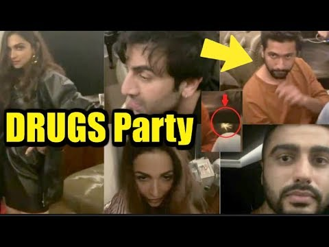 Unseen DRUGS Party Of Bollywood Actors At Karan Johar  House
