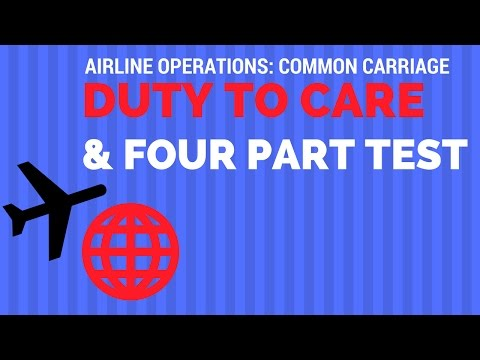 What Is an Air Carrier - Duty to Care and Common Carriage