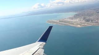 NCE-JFK take off and landing Boeing 767-300 Delta