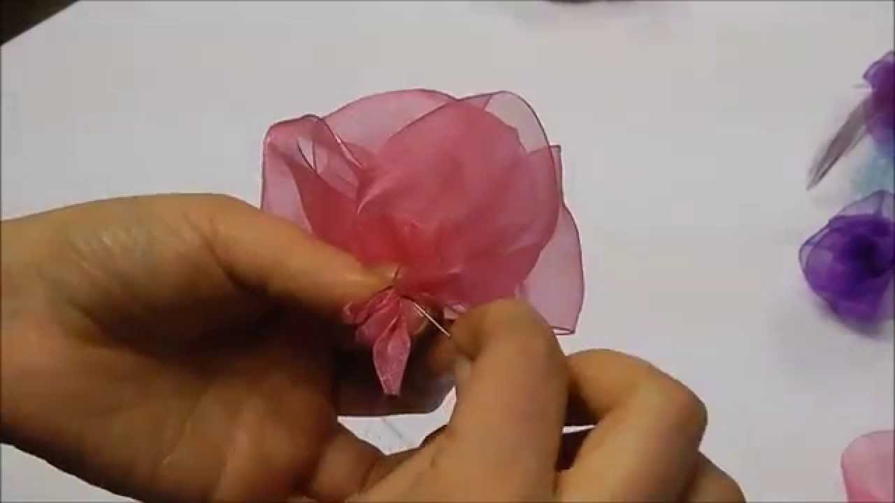 Millinery Tip How To Make An Organza Flower Youtube