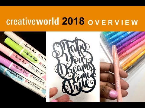 Creative World 2018 Frankfurt Messe: ecoline brush pens, handlettering, paperbags en meer