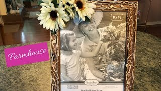Dollar Tree Hot Glue And Paint Picture Frame Diy | Farmhouse Video