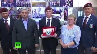 Итальянская делегация встретилась с родителями погибшего в Сирии героя России Прохоренко