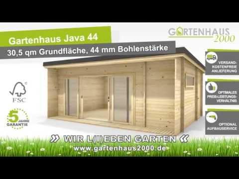 Gartenhaus Java44 mit großen Schiebetüren und 3 Räumen   YouTube