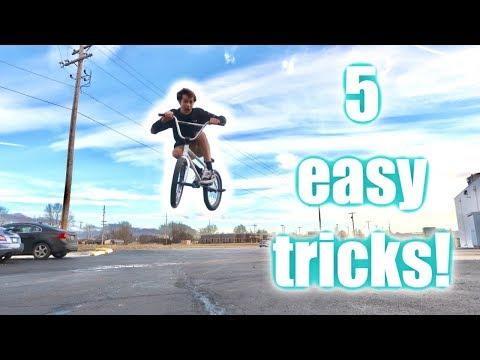 TOP 5 EASIEST BEGINNER BMX TRICKS!